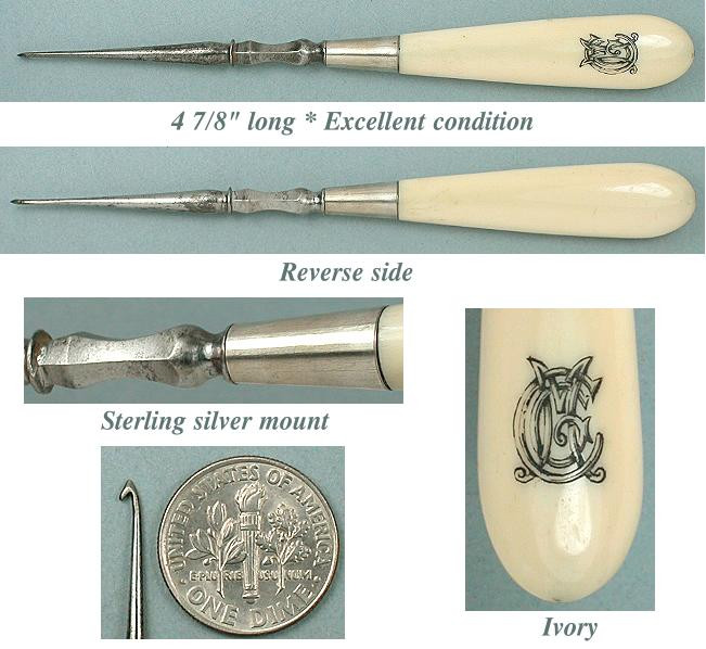 Vintage Crochet Hooks New Antique Carved Ivory & Silver Crochet Hook Circa 1880 Of Awesome 49 Pictures Vintage Crochet Hooks