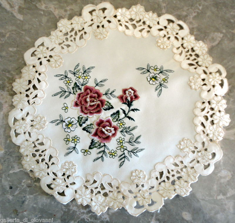 """Vintage Doilies Awesome Victorian Rose Doily Rose 15"""" Flower Doily Gold Thread Of Superb 47 Images Vintage Doilies"""