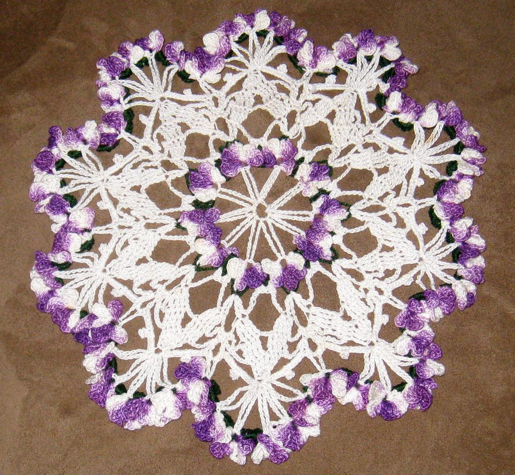 Vintage Doilies Best Of You Have to See Vintage Violet Flower Doily by Crochet4fun Of Superb 47 Images Vintage Doilies