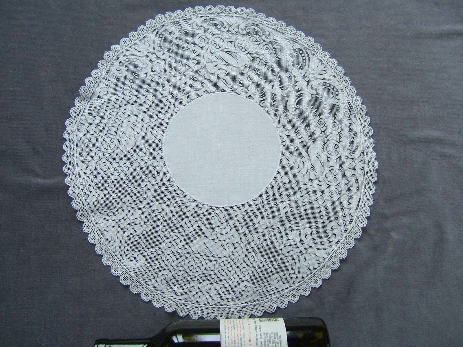 "Vintage Doilies Lovely Vintage Figural Filet Lace Doily Nymphs Round 20"" Across Of Superb 47 Images Vintage Doilies"