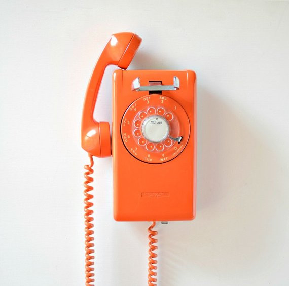 Vintage Wall Phone Lovely Vintage Rotary Dial Wall Mount Telephone orange Rotary Wall Of Unique 42 Pictures Vintage Wall Phone