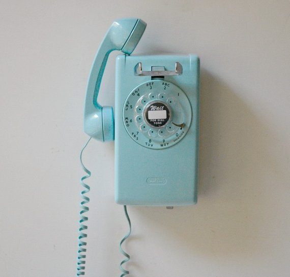 Vintage Wall Phone Lovely Vintage Sky Blue Rotary Dial Wall Mount Phone Rotary Wall Of Unique 42 Pictures Vintage Wall Phone