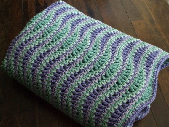 free crochet pattern for wave afghan