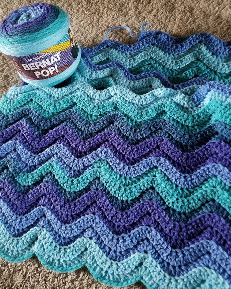 Wave Crochet Pattern Free Lovely [free Pattern] Bright Waves Crochet Throw Of Perfect 43 Pics Wave Crochet Pattern Free