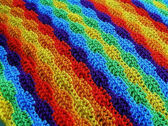 Wavy Crochet Blanket Pattern Unique Afghan Blanket Stitches and Afghans On Pinterest Of Amazing 44 Ideas Wavy Crochet Blanket Pattern
