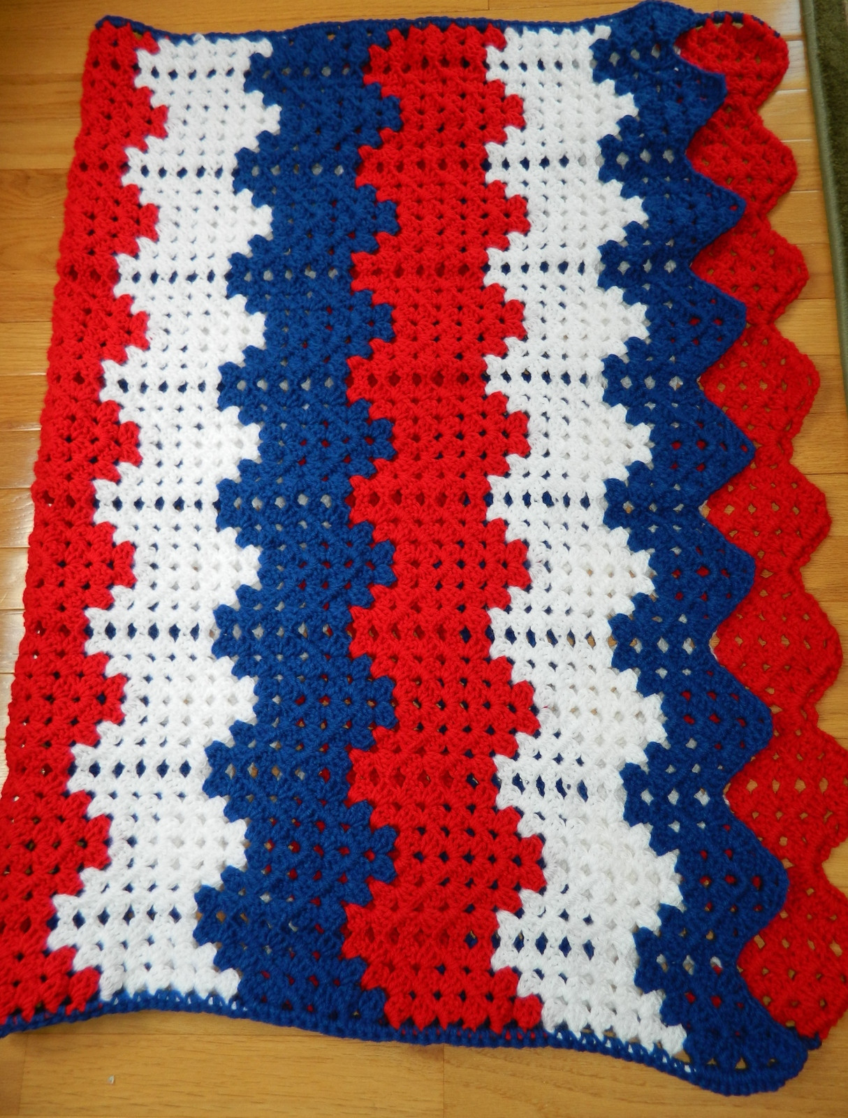 Wavy Crochet Blanket Pattern Unique Patriotic Afghan Blanket W Chevron Wavy and 20 Similar Of Amazing 44 Ideas Wavy Crochet Blanket Pattern