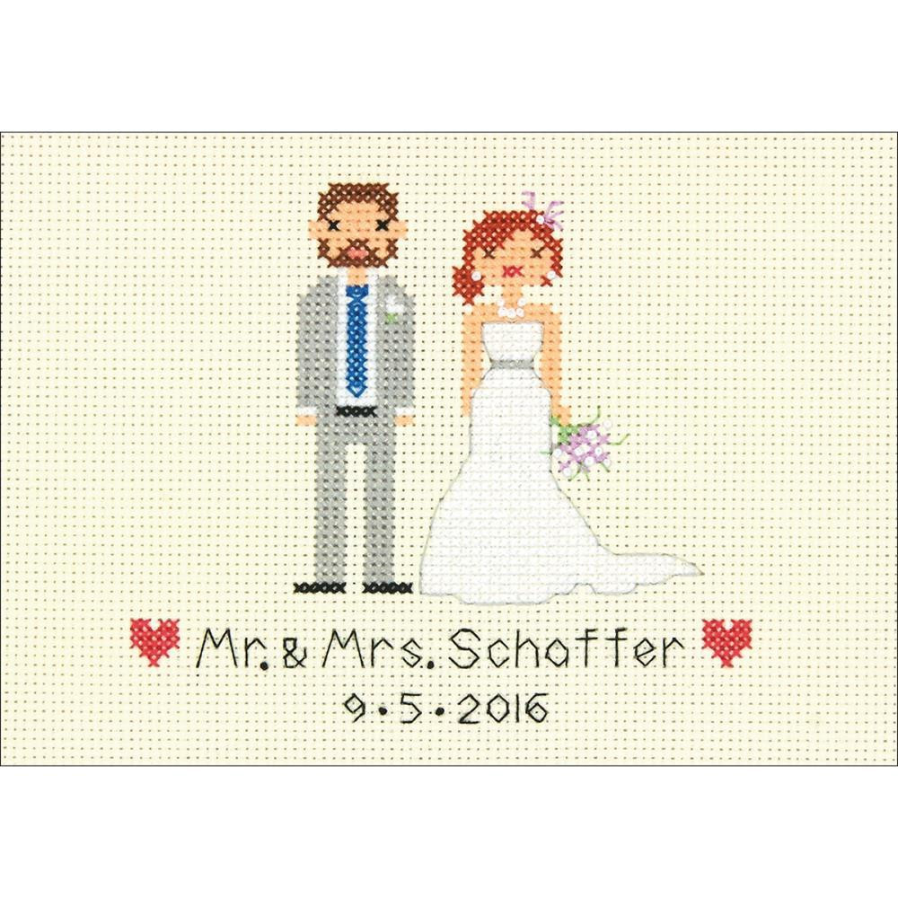 Wedding Cross Stitch Patterns Awesome Bride & Groom Wedding Record Mini Counted Cross Stitch Kit Of Fresh 44 Ideas Wedding Cross Stitch Patterns