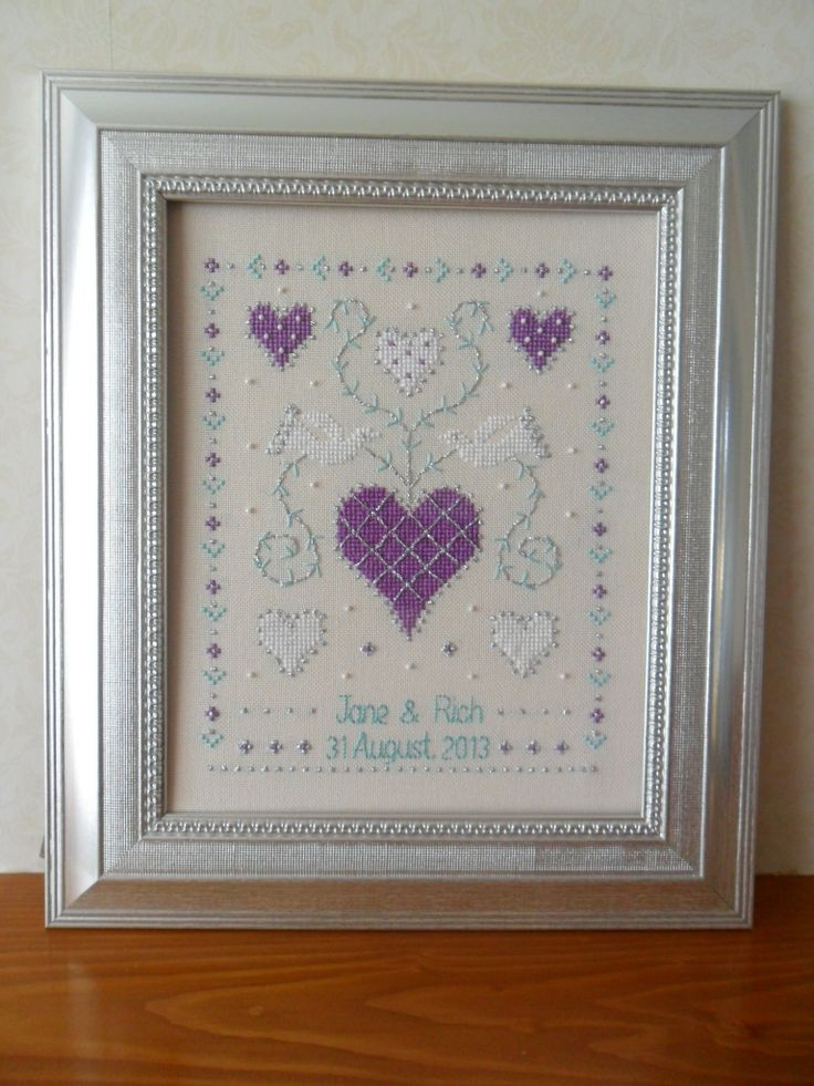 25 best Wedding Anniversary Cross Stitch images on