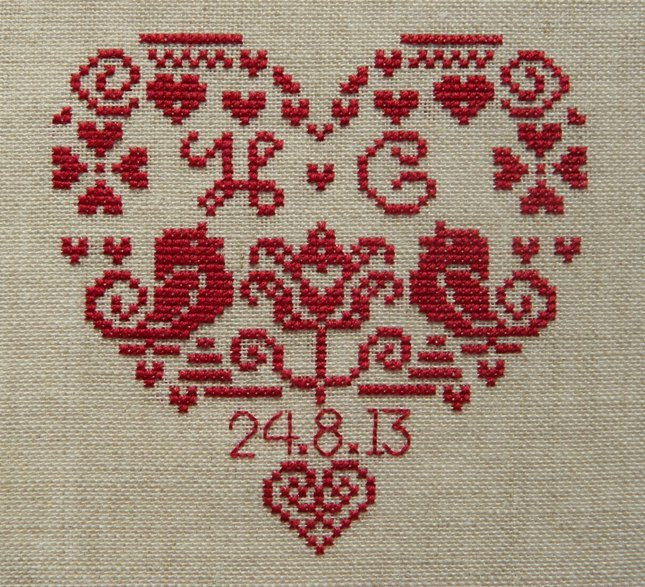 Wedding Cross Stitch Patterns Luxury Personalised Heart Wedding Sampler Instant Download Pdf Of Fresh 44 Ideas Wedding Cross Stitch Patterns