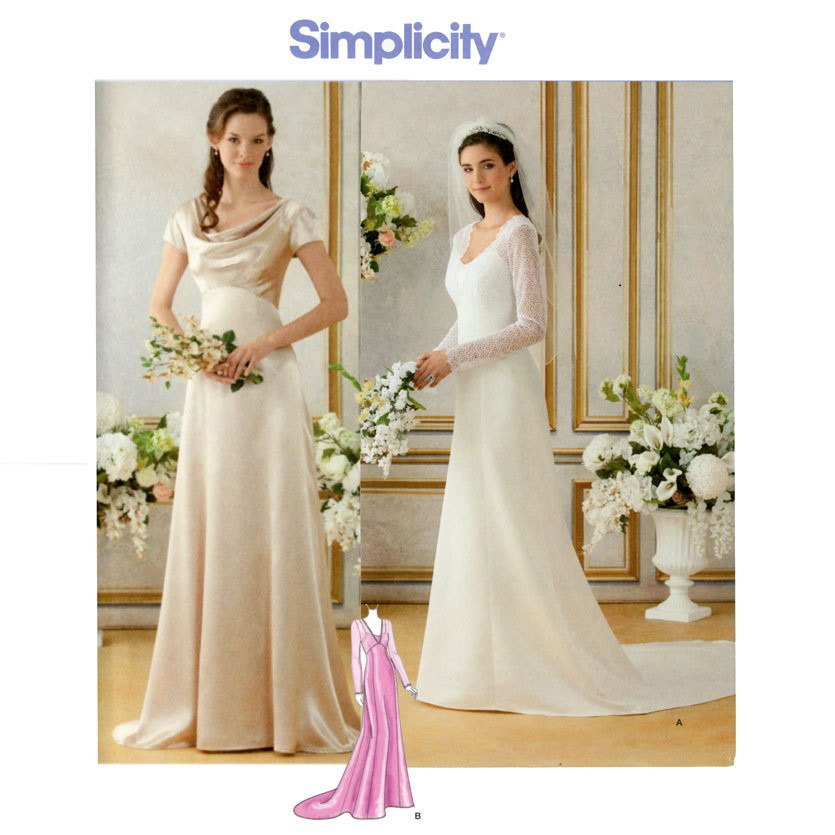 Wedding Dress Patterns Best Of Wedding Dress Pattern Bust 36 44 Uncut Simplicity 1909 Bride Of Incredible 44 Images Wedding Dress Patterns