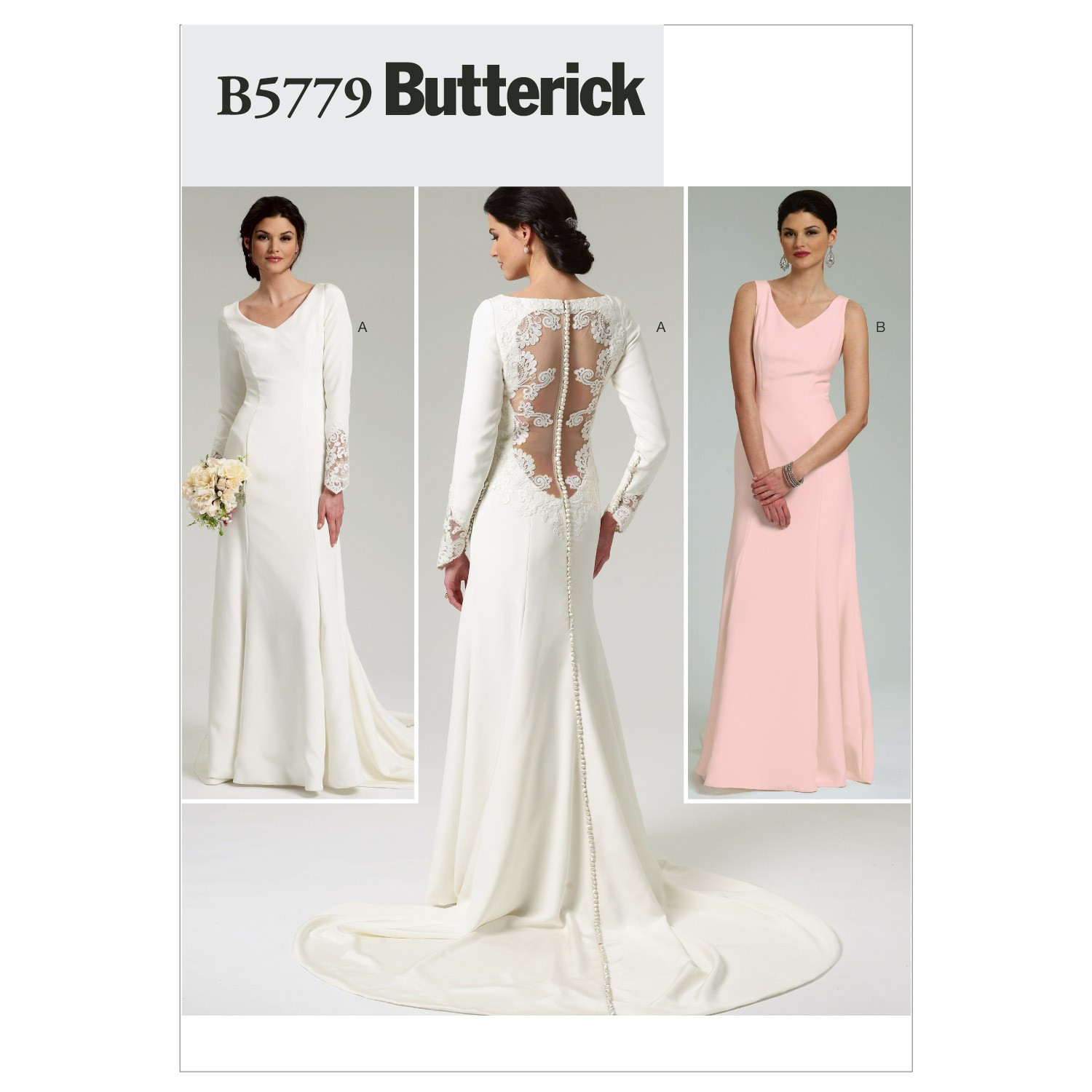 Wedding Dress Patterns Lovely Misses Bridal Gown butterick Pattern 5779 Of Incredible 44 Images Wedding Dress Patterns