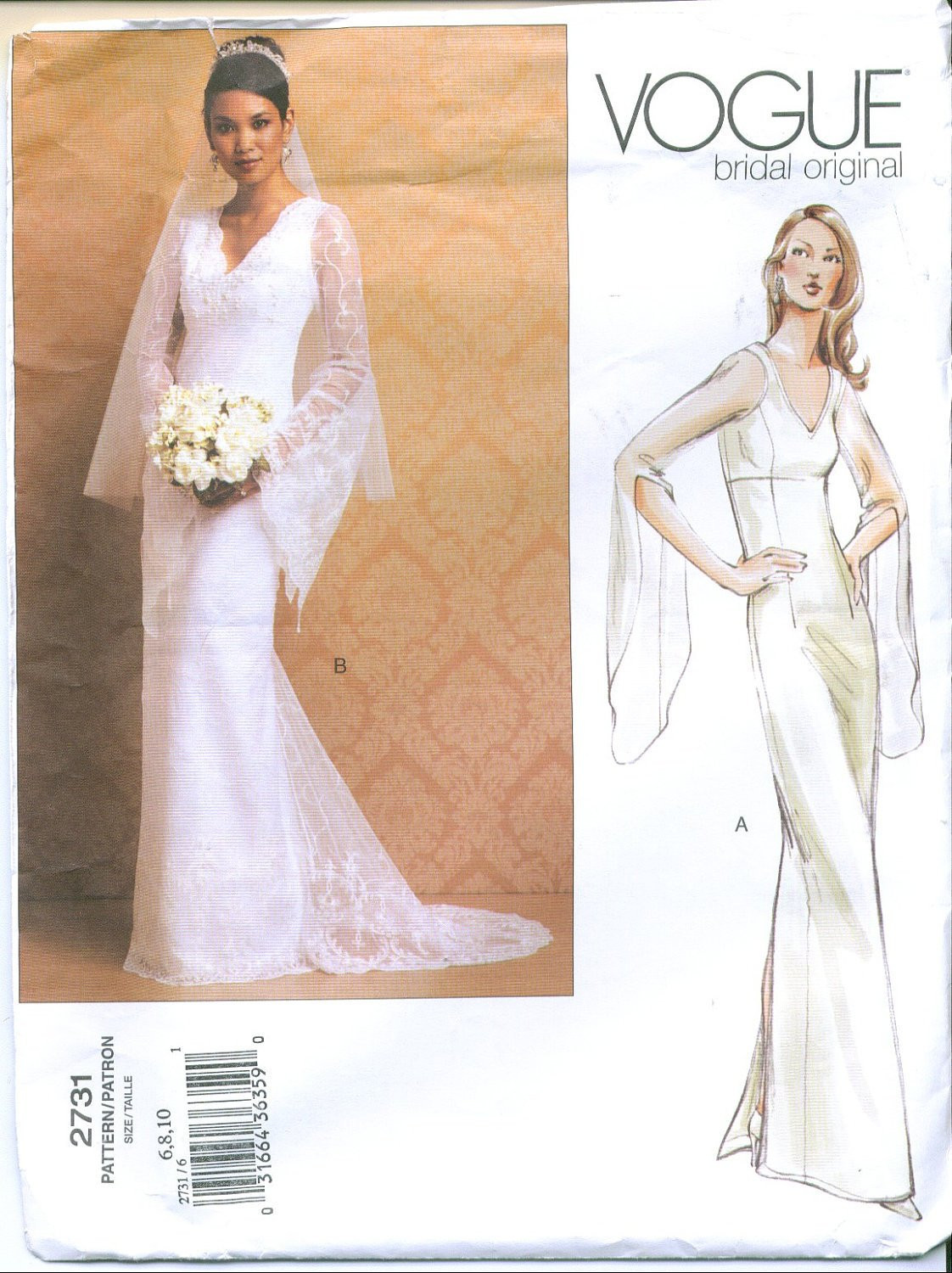 Wedding Dress Patterns Lovely Vogue 2731 Bridal Wedding Gown Sewing Pattern Size 6 8 10 Of Incredible 44 Images Wedding Dress Patterns