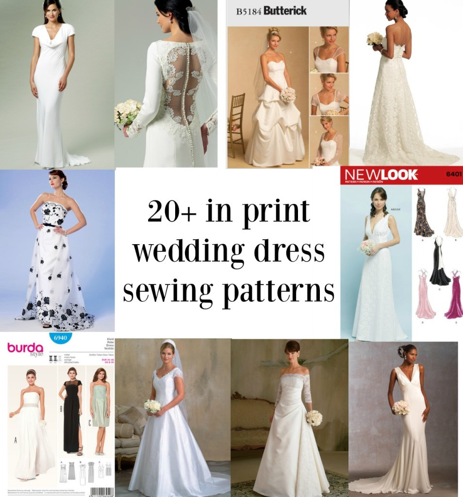 Wedding Dress Patterns Luxury Links to Over Twenty In Print Bridal Gown Sewing Patterns Of Incredible 44 Images Wedding Dress Patterns