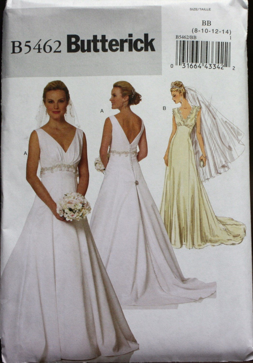 Wedding Dress Patterns New B5462 butterick Wedding Dress Sewing Pattern New Uncut Size Of Incredible 44 Images Wedding Dress Patterns