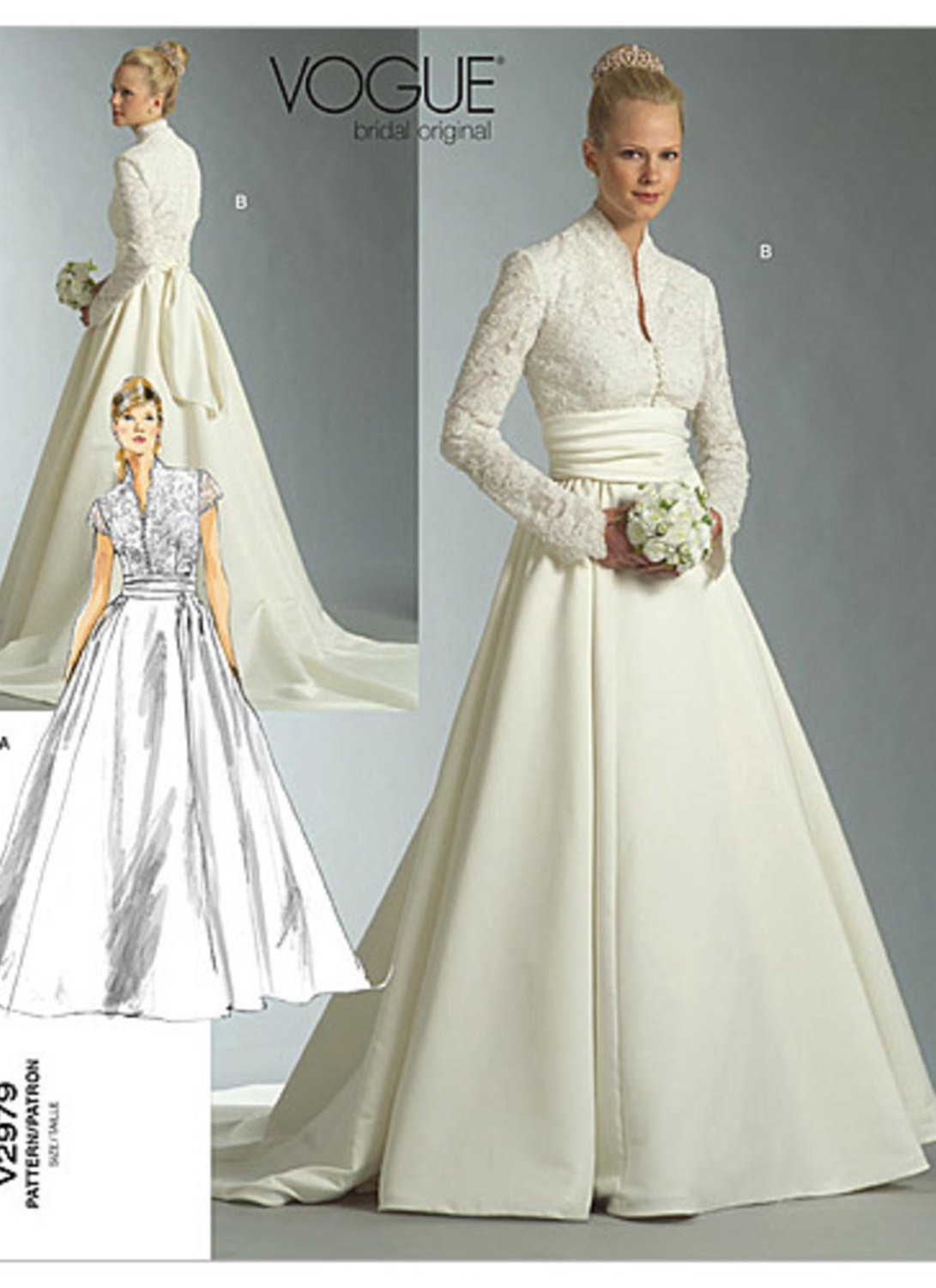 Wedding Dress Patterns New Sz 12 14 16 Vogue Wedding Dress Pattern V2979 Misses Of Incredible 44 Images Wedding Dress Patterns