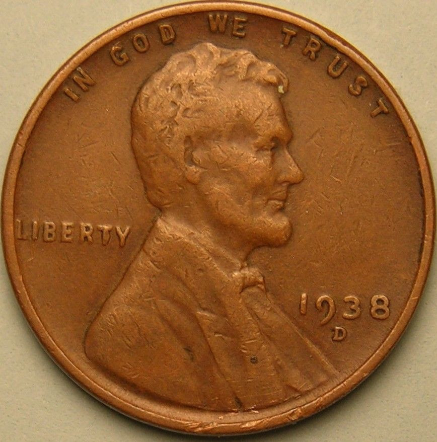 Wheat Penny Value Elegant 1938 D Lincoln Wheat Penny Cent Ae 280 Of Superb 40 Pictures Wheat Penny Value