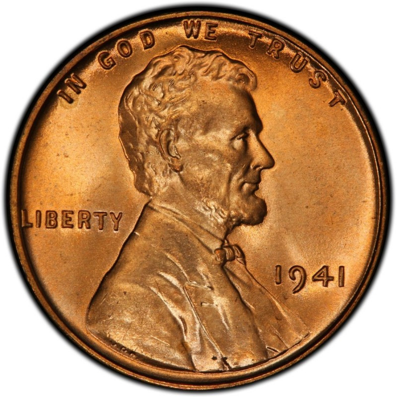 1941 Lincoln Wheat Pennies Values and Prices Past Sales