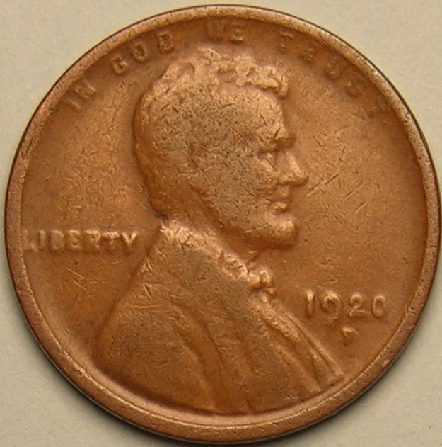 1920 D LINCOLN WHEAT PENNY AC 678