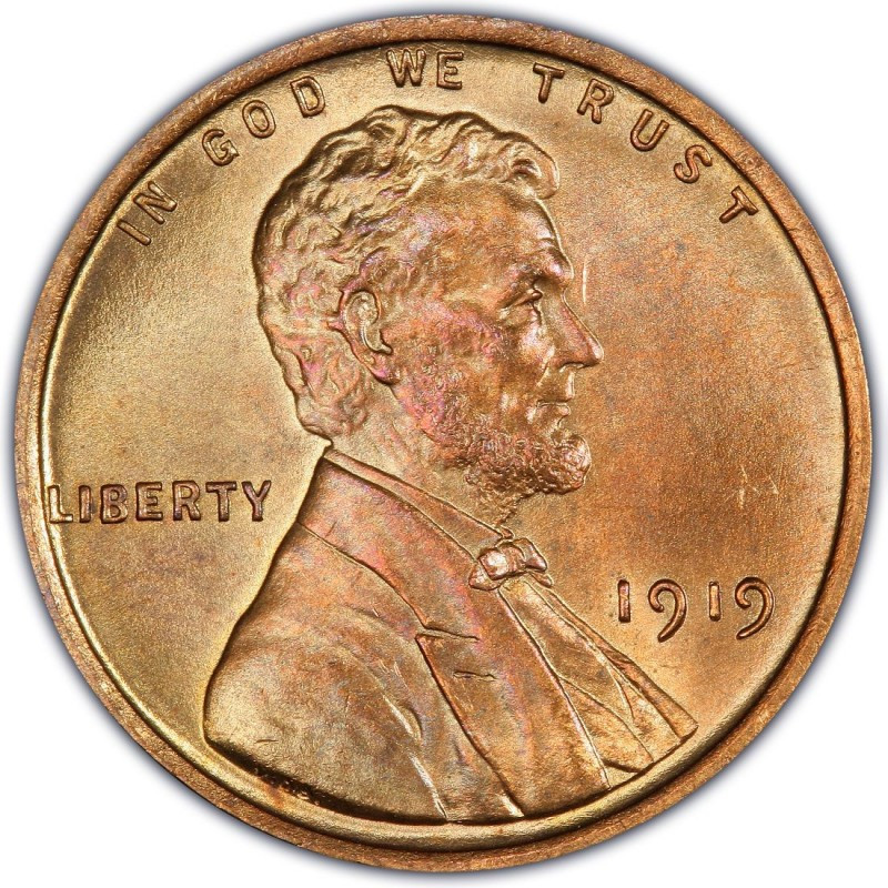 Wheat Penny Value New 1919 Lincoln Wheat Pennies Values and Prices Past Sales Of Superb 40 Pictures Wheat Penny Value