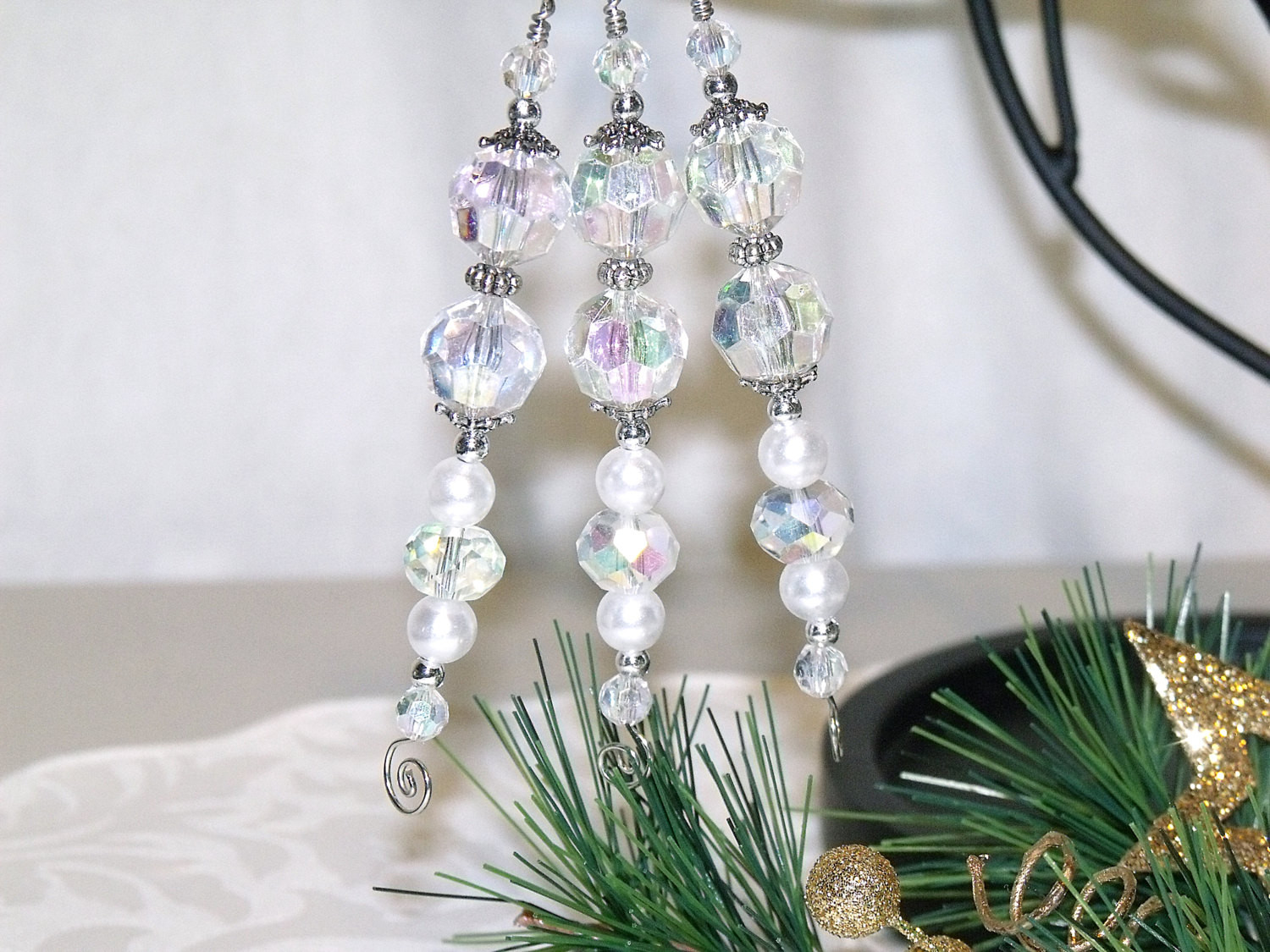 White Christmas ornaments Best Of White Christmas Icicle ornaments Bead ornaments Tree Of Attractive 44 Images White Christmas ornaments