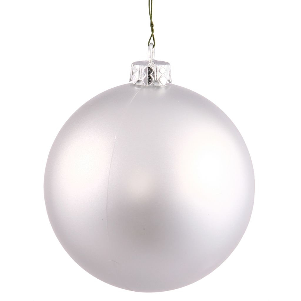 """White Christmas ornaments Lovely Vickerman 3"""" Silver Matte Ball Christmas Tree Of Attractive 44 Images White Christmas ornaments"""