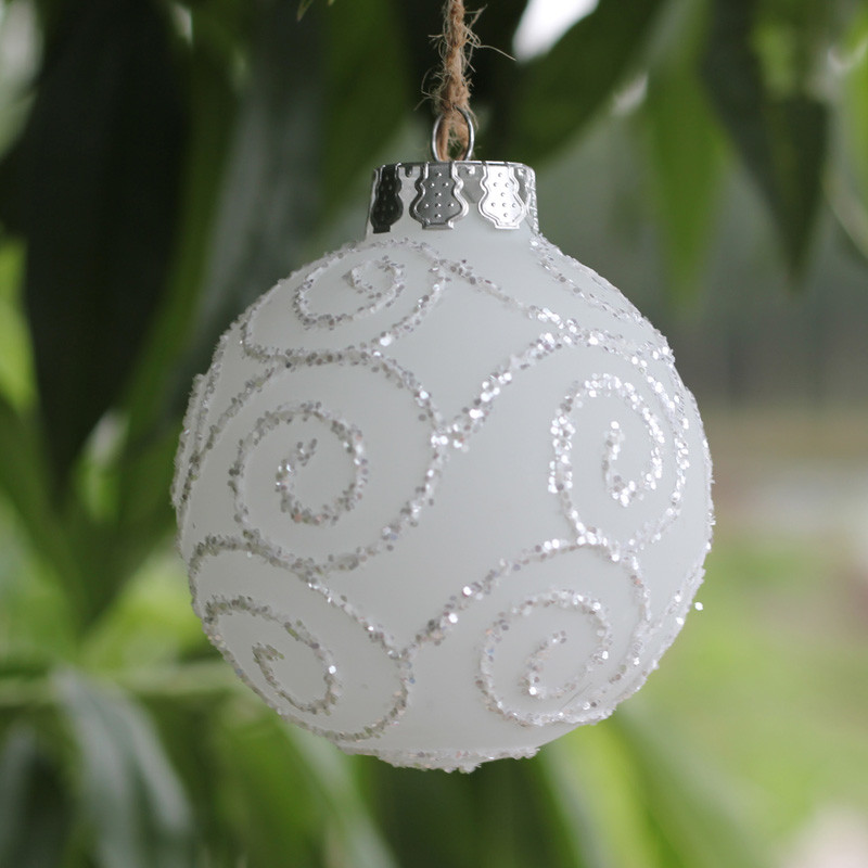 White Christmas ornaments New Popular Frosted Christmas ornaments Buy Cheap Frosted Of Attractive 44 Images White Christmas ornaments