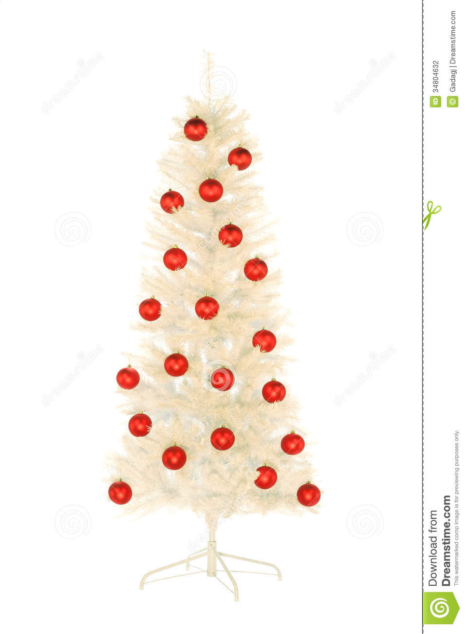 Sparkling White Artificial Christmas Tree Decorated With