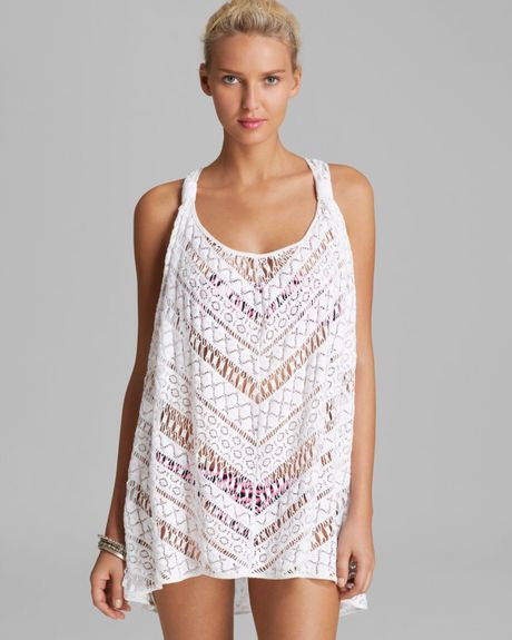 White Crochet Cover Up Beautiful Milly Crochet Drapey Swim Cover Up Tunic In White Of Unique 42 Pictures White Crochet Cover Up