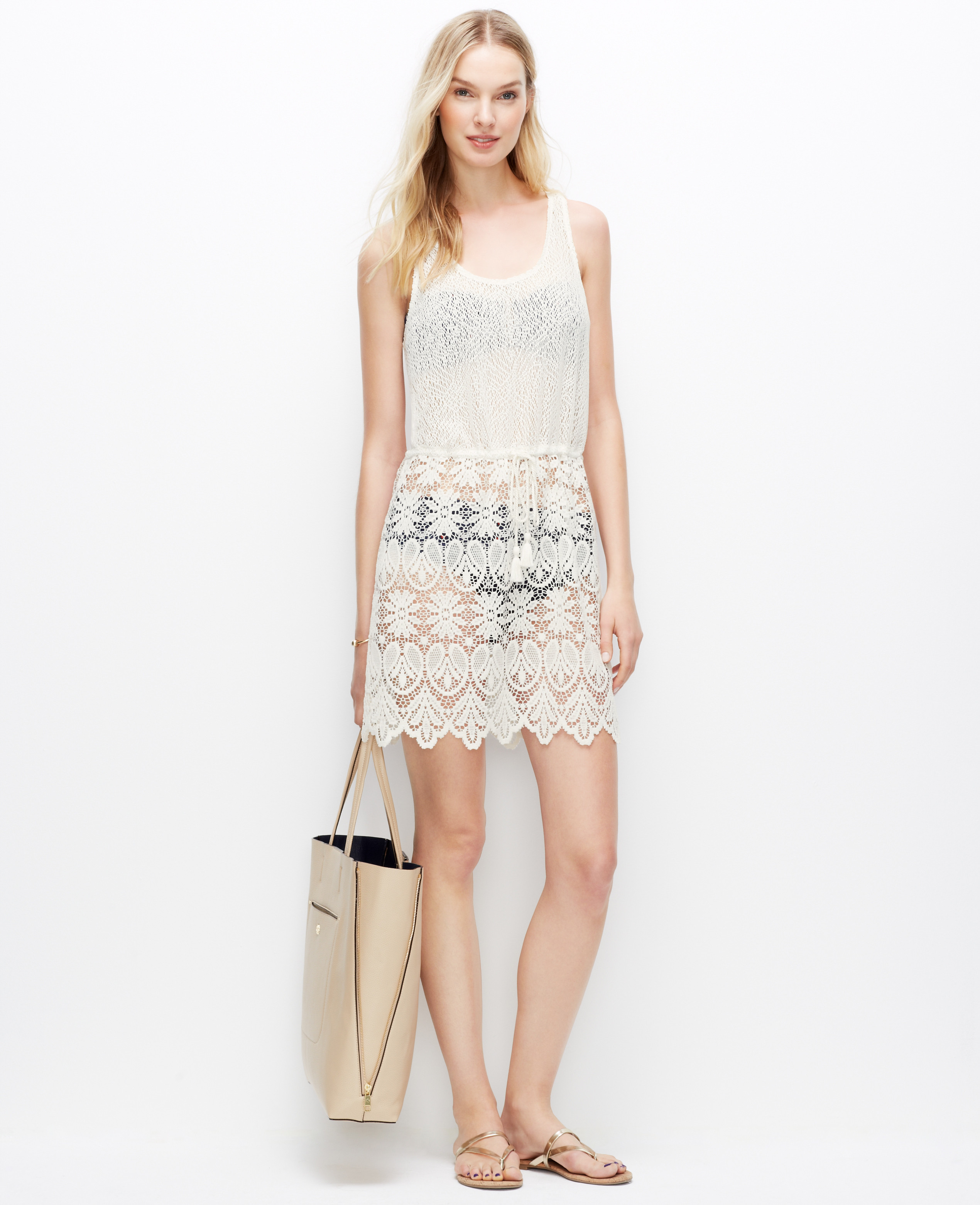 Ann taylor Crochet Lace Swimsuit Cover Up in White
