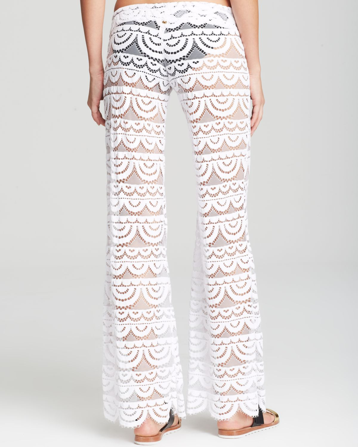 White Crochet Cover Up Lovely Pilyq Malibu Lace Crochet Pants Swim Cover Up In White Of Unique 42 Pictures White Crochet Cover Up