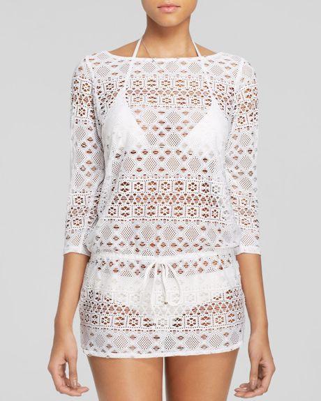 White Crochet Coverup Awesome Ralph Lauren Polo Crochet Tunic Swim Cover Up In White Of Unique 50 Models White Crochet Coverup