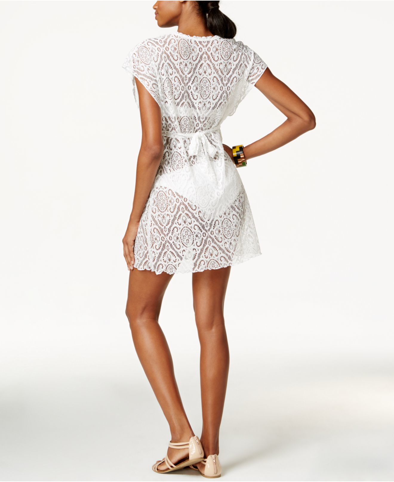 White Crochet Coverup Beautiful Becca Crochet Lace Tunic Cover Up In White Of Unique 50 Models White Crochet Coverup