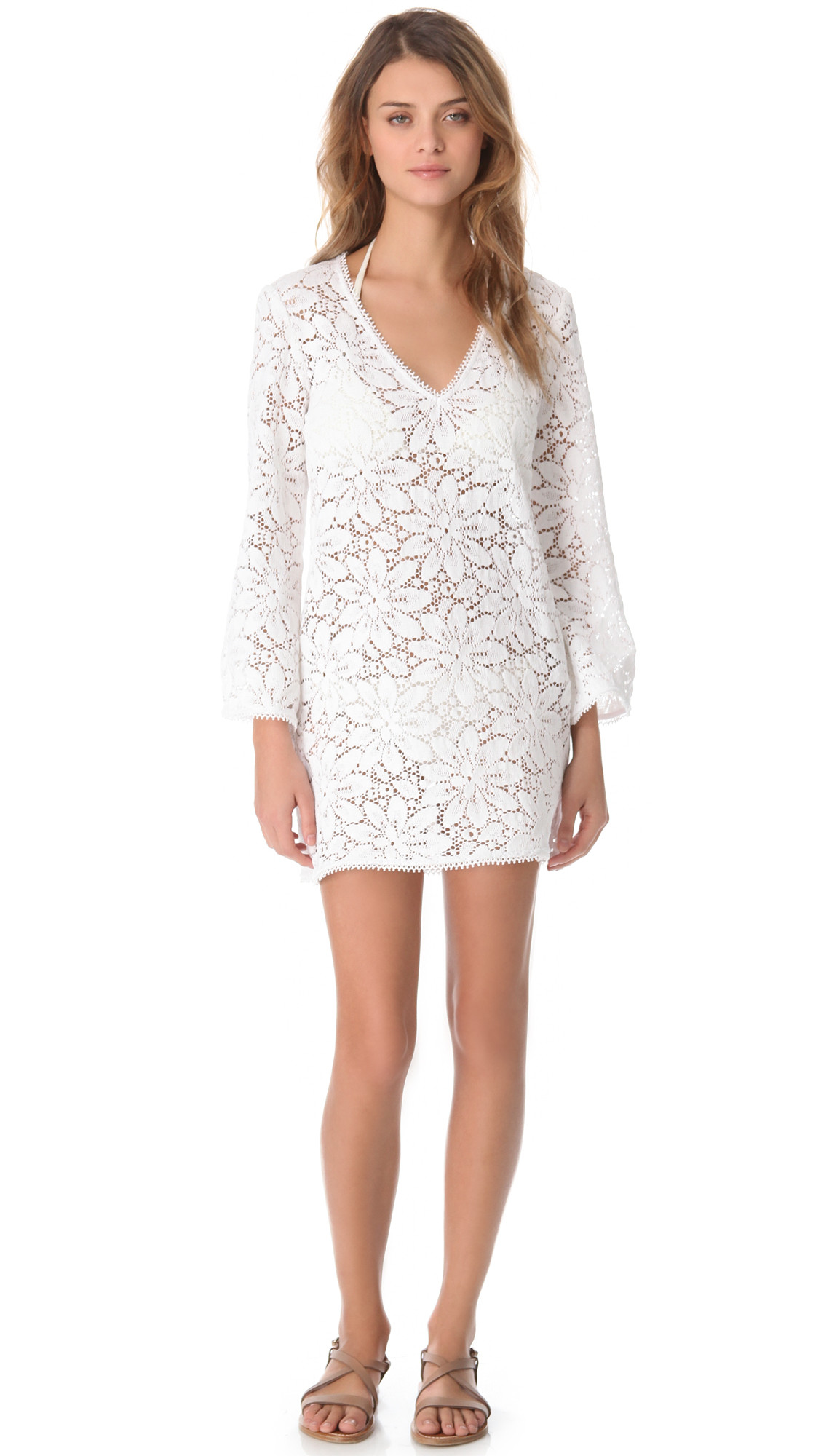 White Crochet Coverup Best Of Milly Mykonos Crochet Tunic Cover Up In White Of Unique 50 Models White Crochet Coverup