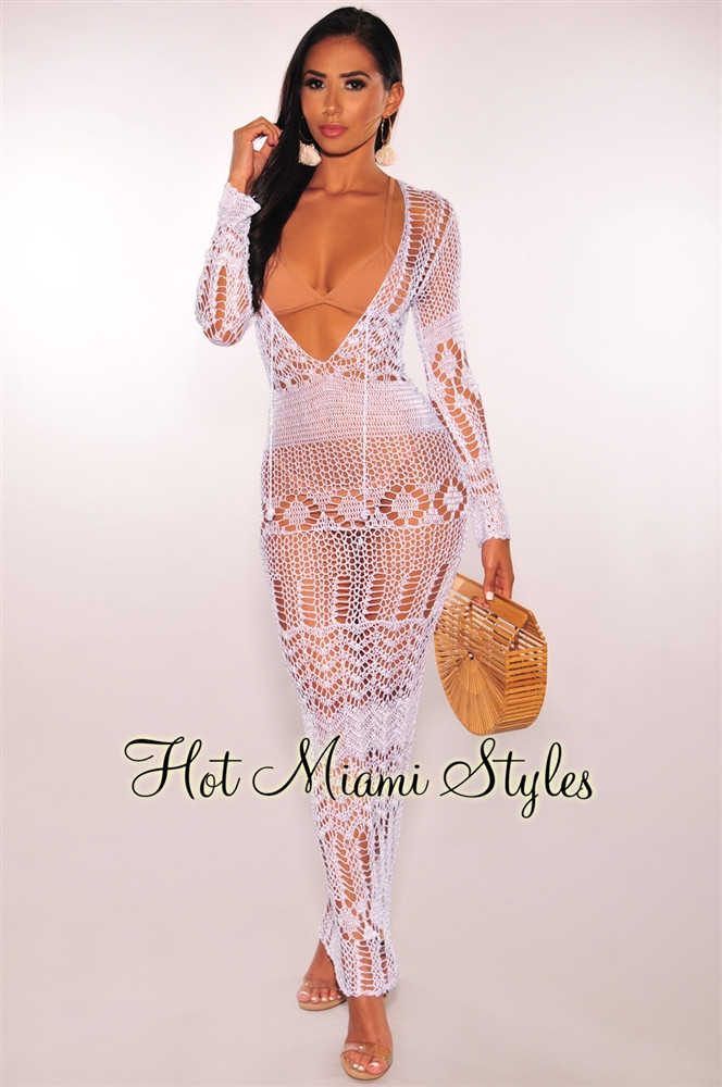 White Crochet Coverup Best Of White Crochet Cover Up Long Sleeves Maxi Dress Of Unique 50 Models White Crochet Coverup