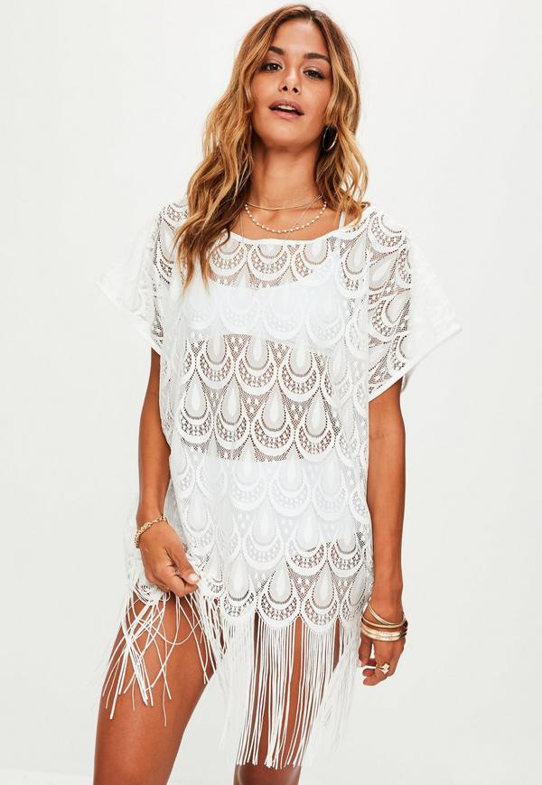 White Crochet Coverup Best Of White Crochet Tassel Hem Cover Up Of Unique 50 Models White Crochet Coverup