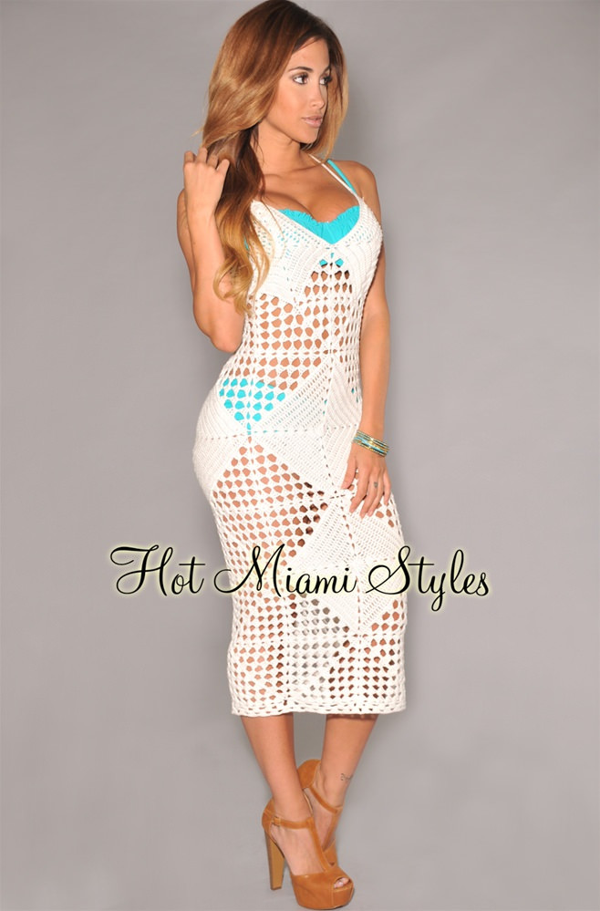 White Crochet Coverup Elegant White Crochet Cover Up Midi Dress Of Unique 50 Models White Crochet Coverup