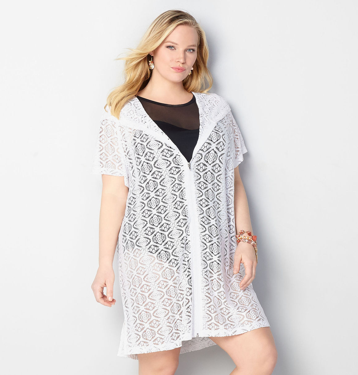 White Crochet Coverup Elegant White Crochet Zip Hooded Cover Up Plus Size Cover Up Avenue Of Unique 50 Models White Crochet Coverup