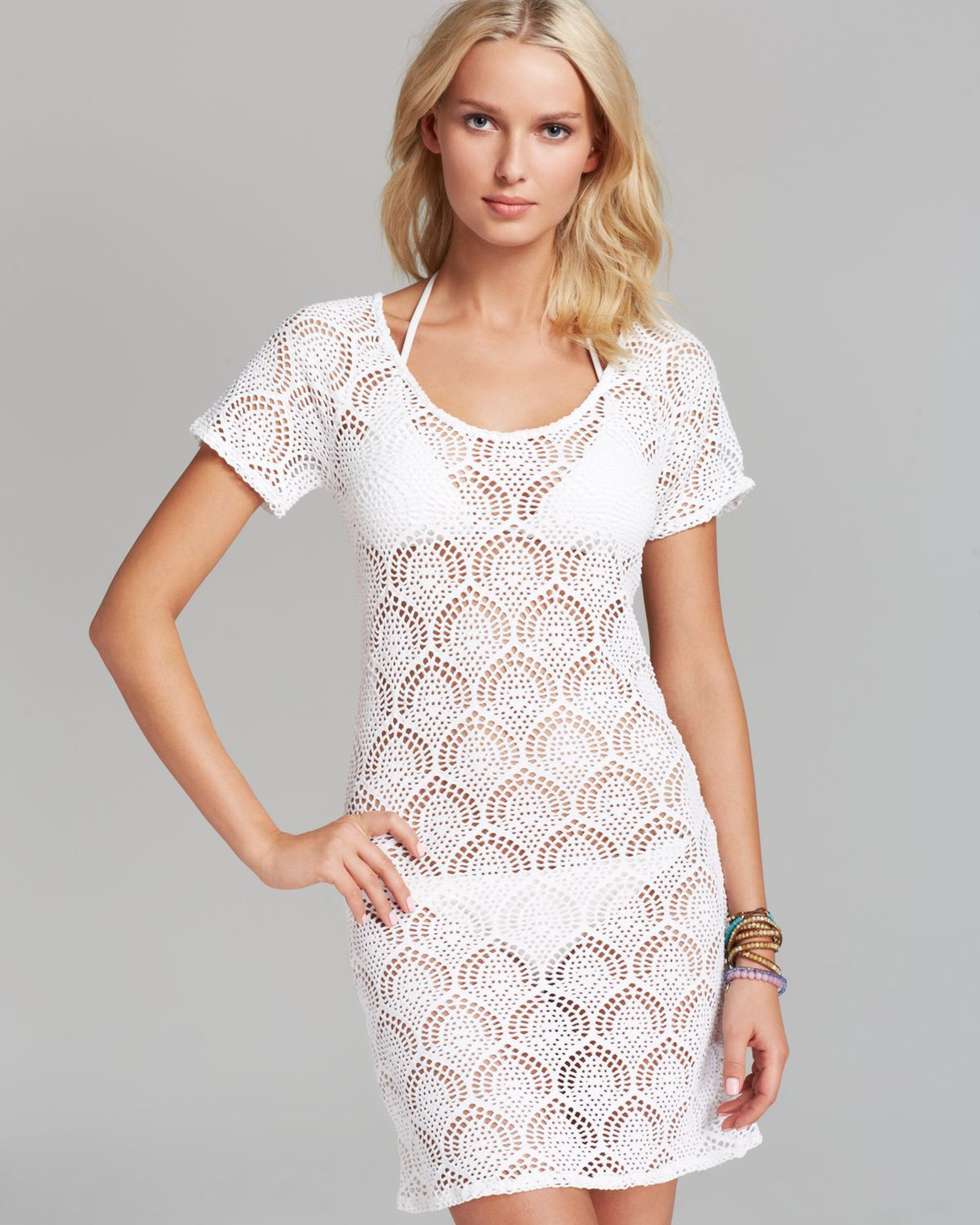 White Crochet Coverup Fresh La Blanca Casablanca Crochet Swim Cover Up Dress In White Of Unique 50 Models White Crochet Coverup