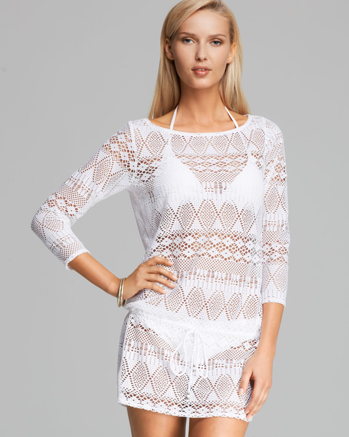 White Crochet Coverup Fresh Ralph Lauren Blue Label Oasis Crochet Tunic Swim Cover Up Of Unique 50 Models White Crochet Coverup