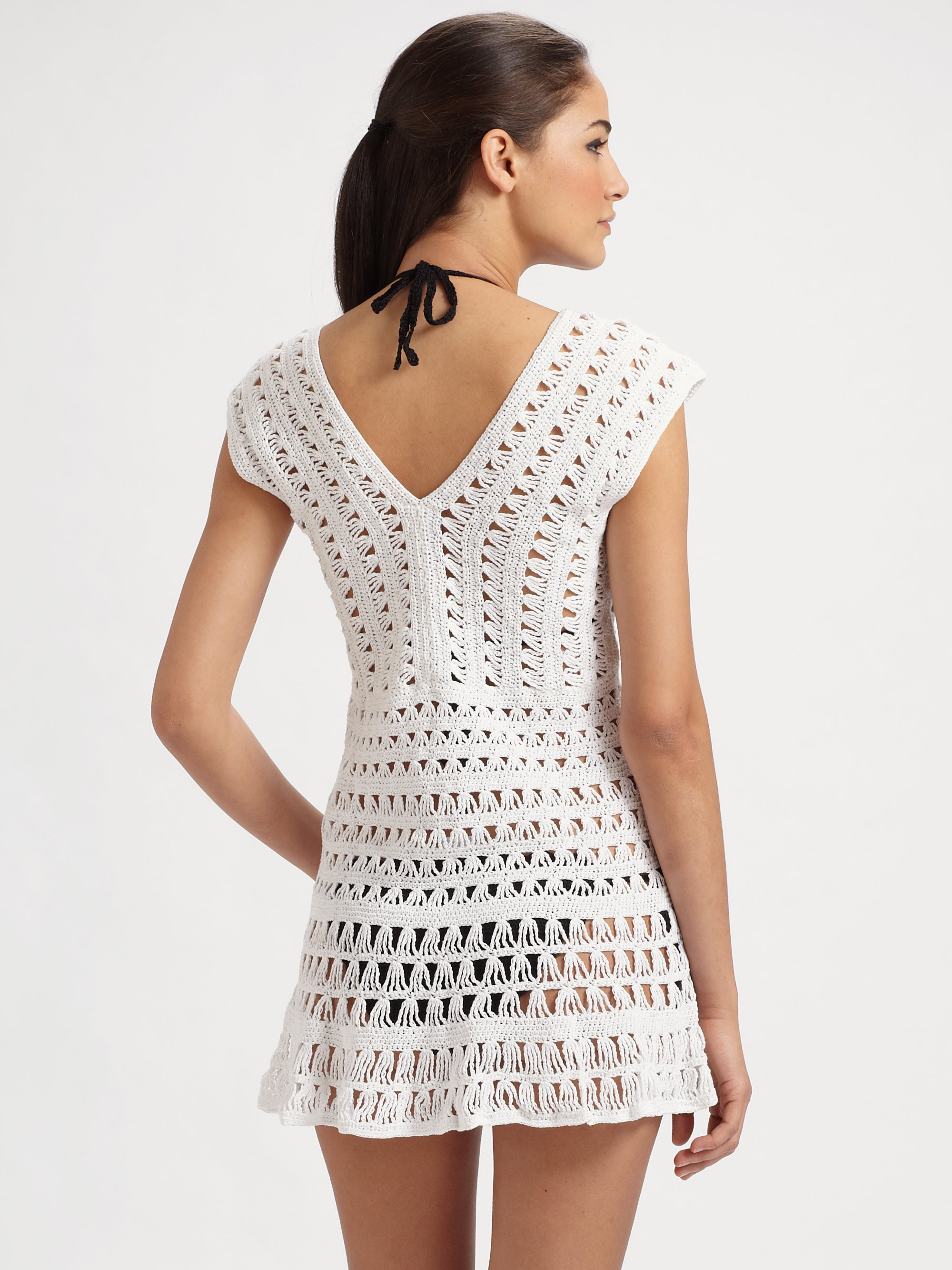 White Crochet Coverup Inspirational Anna Kosturova Marissa Crocheted Coverup In White Of Unique 50 Models White Crochet Coverup