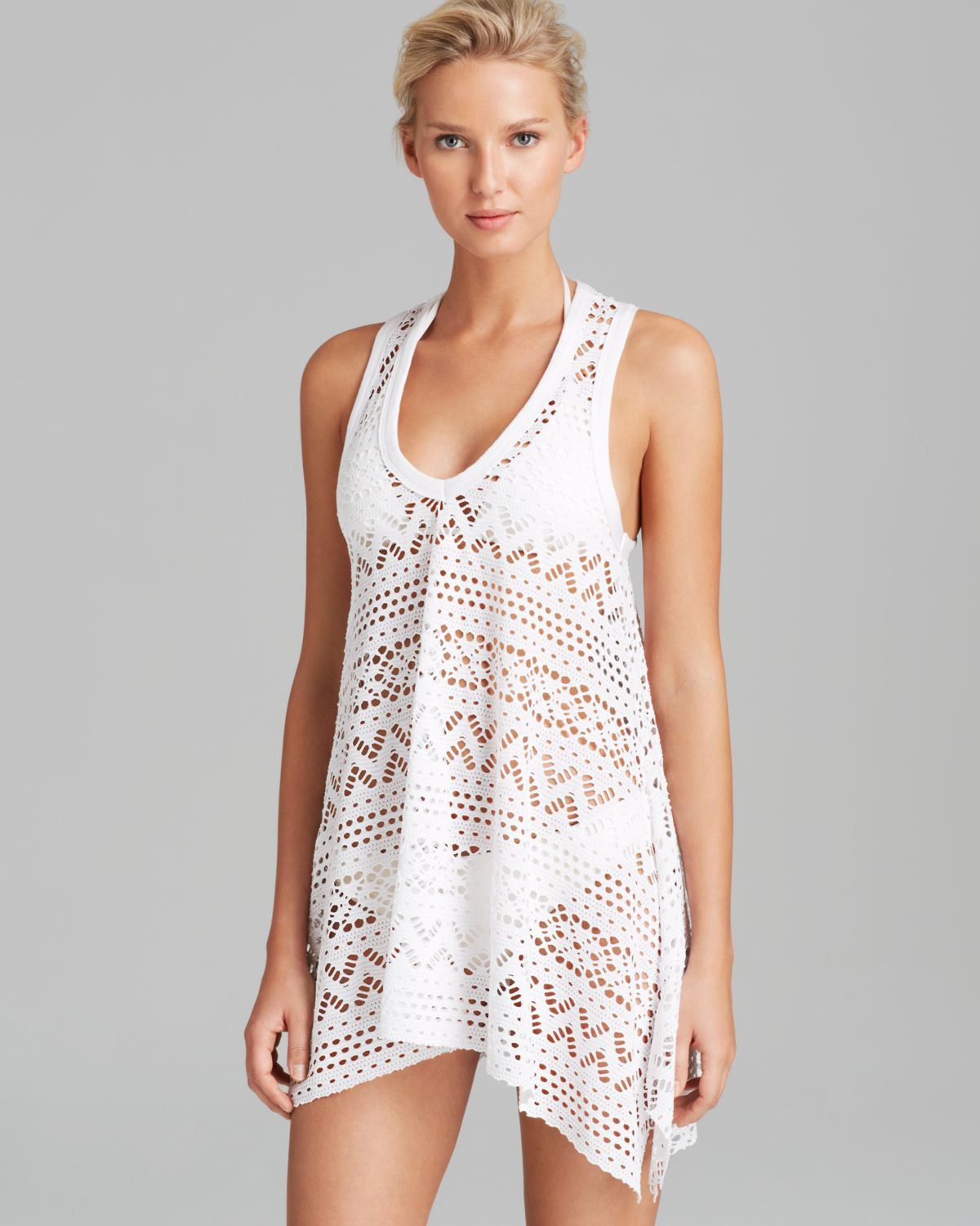 White Crochet Coverup Inspirational Lyst Robin Piccone Penelope Crochet Dress Swim Cover Up Of Unique 50 Models White Crochet Coverup