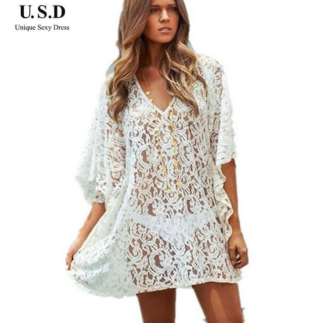 White Crochet Coverup Lovely 2015 New Y White Lace Crochet Beach Cover Up Dress Of Unique 50 Models White Crochet Coverup