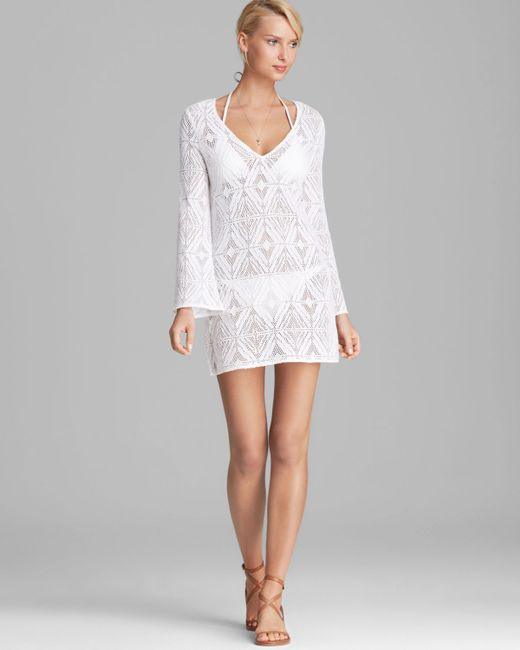 White Crochet Coverup New Milly Crochet Lace Mykonos Cover Up Tunic In White Save Of Unique 50 Models White Crochet Coverup