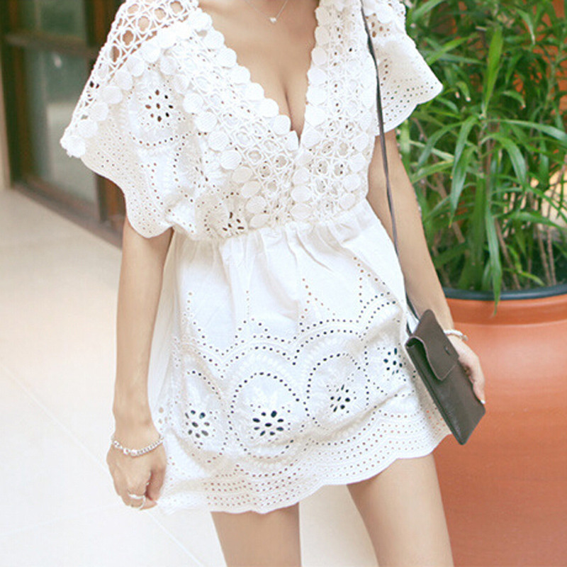 White Crochet Coverup New Saidas De Praia Tunic White Crochet Openwork Lace Swimwear Of Unique 50 Models White Crochet Coverup