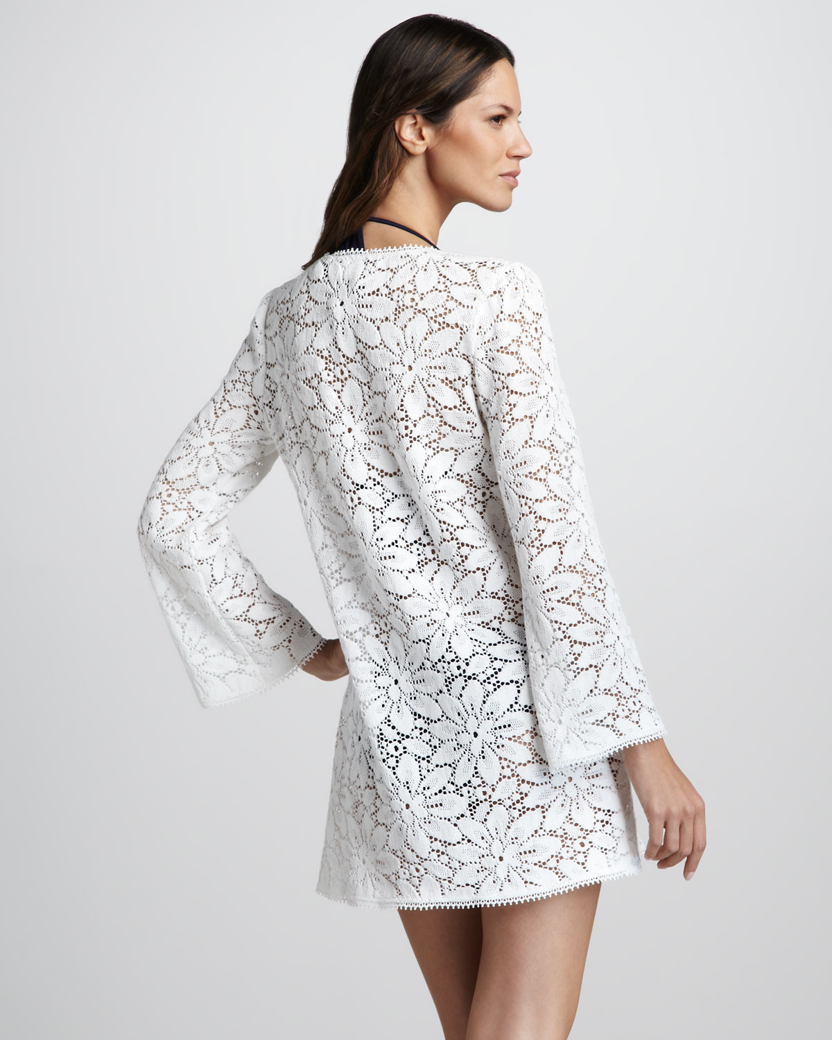 White Crochet Coverup Unique Milly Chrysanthemum Crochet Tunic Coverup In White Of Unique 50 Models White Crochet Coverup