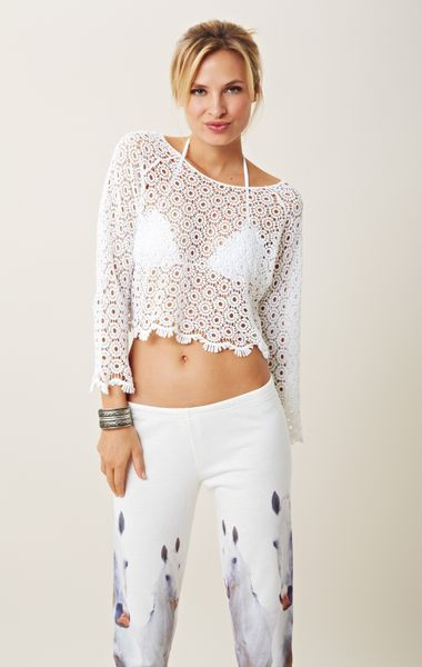 White Crochet Crop tops Elegant Blu Moon Crochet Crop top In White Of Gorgeous 46 Pics White Crochet Crop tops