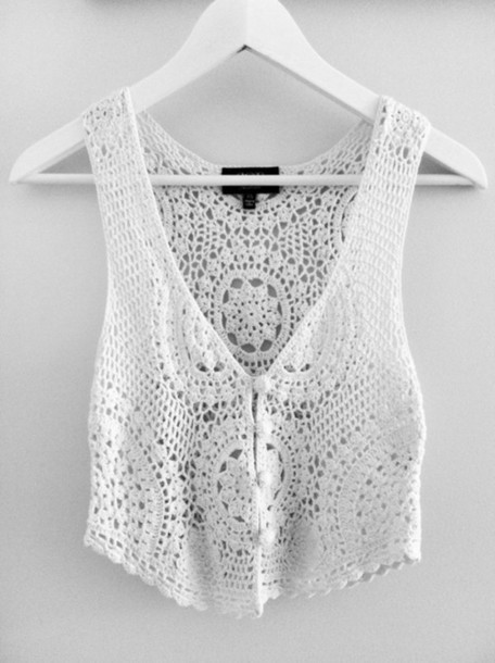 White Crochet Crop tops Fresh Tank top Crochet top Crochet Crocheted Found On Tumblr Of Gorgeous 46 Pics White Crochet Crop tops