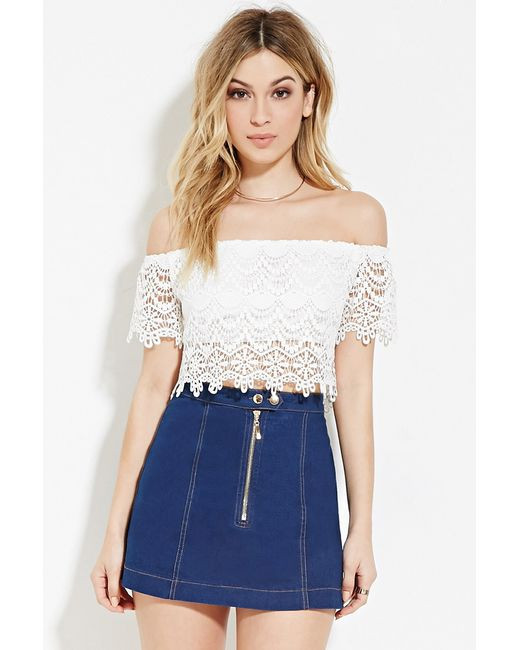 White Crochet Crop tops Lovely forever 21 Crochet Crop top In White Ivory Of Gorgeous 46 Pics White Crochet Crop tops