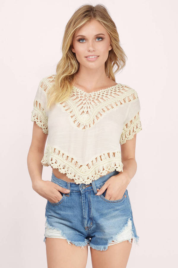 White Crochet Crop tops Luxury Crochet White Crop top Of Gorgeous 46 Pics White Crochet Crop tops