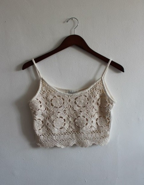 White Crochet Crop tops Unique Blouse Crop tops Crochet White Cream whereto Of Gorgeous 46 Pics White Crochet Crop tops